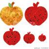 津軽塗のりんごと黄金のりんごのイラスト素材 [61940635] - PIXTA